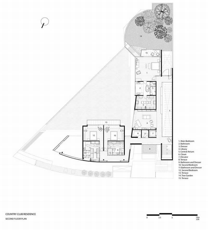 country club residence    migdal arquitectos
