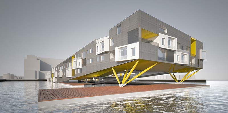 Floating neighborhoods reimagine coastal living