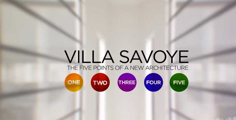 Villa Savoye: The five points of architecture
