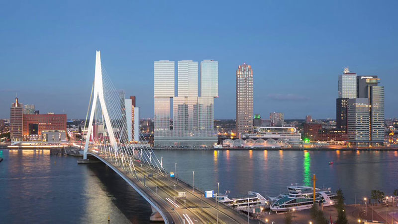 "Koolhaas : De Rotterdam is a ""dynamic presence in the city"""