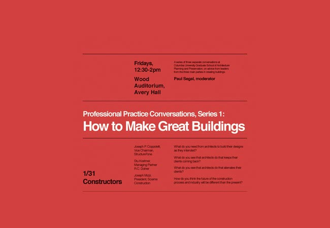 How to Make Great Buildings: Constructors