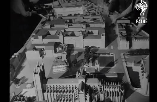 Coronation Model Aids Architects - 1952