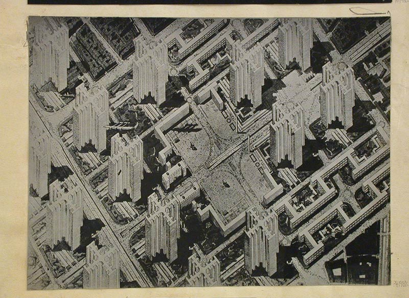 "Le Corbusier's ""contemporary city"" - 1925"