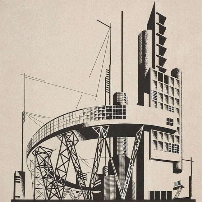 Architectural compositions by Iakov Chernikhov, 1924-1931