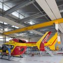 Extension of the helicopter group of civil security, nimes garons, france