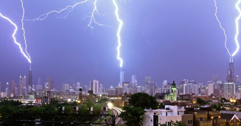 Chicago Derecho Storm Video and Time-lapse Highlights