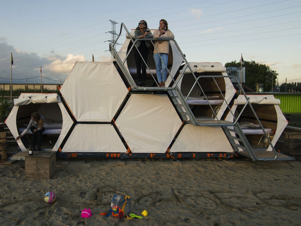 A Honeycomb Hotel Made for Music Festivals