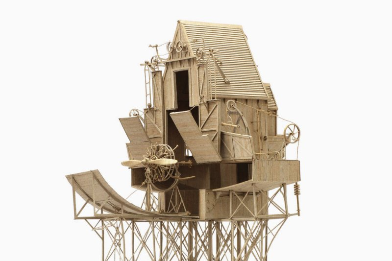 Fantasy Steampunk Contraptions Made Only From Cardboard