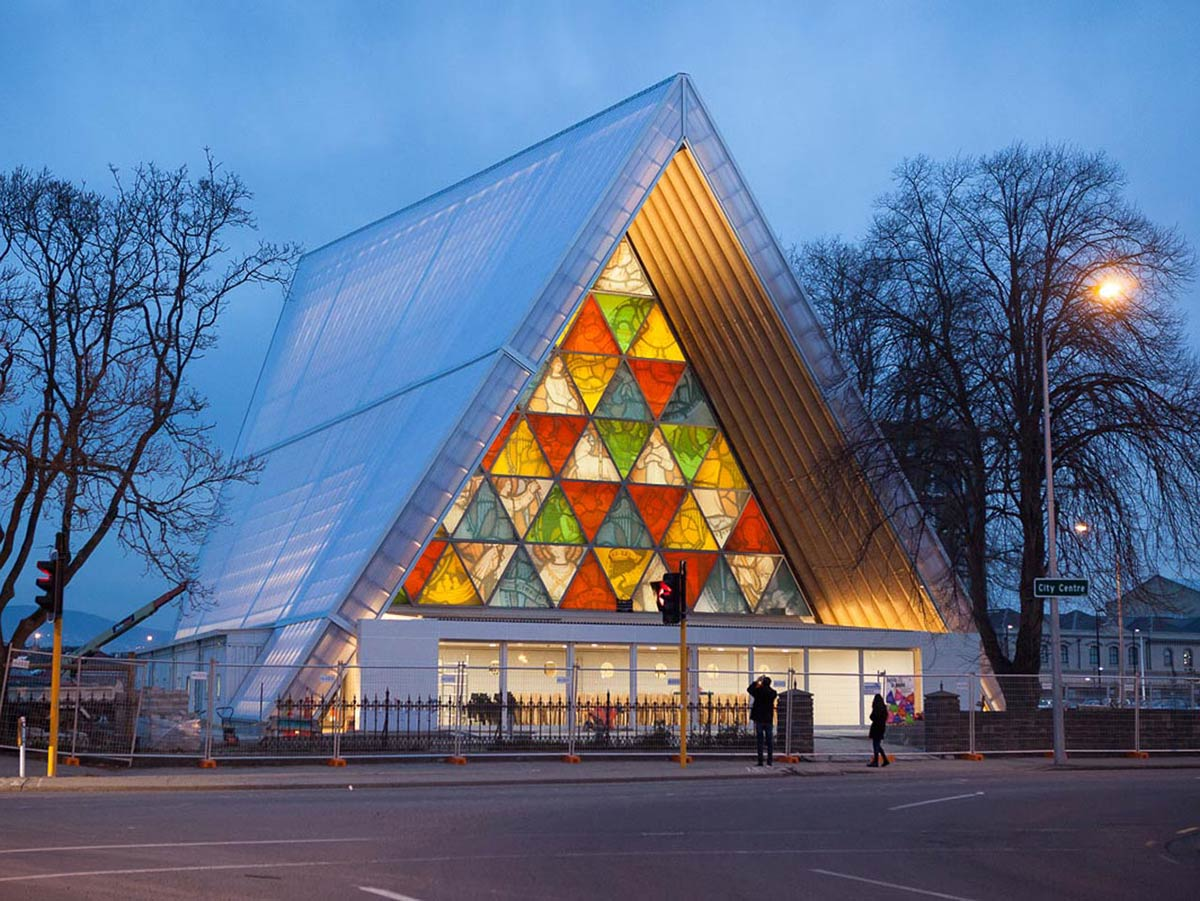 How temporary 'cardboard cathedral' rose from the ruins to become most recognised building in Christchurch