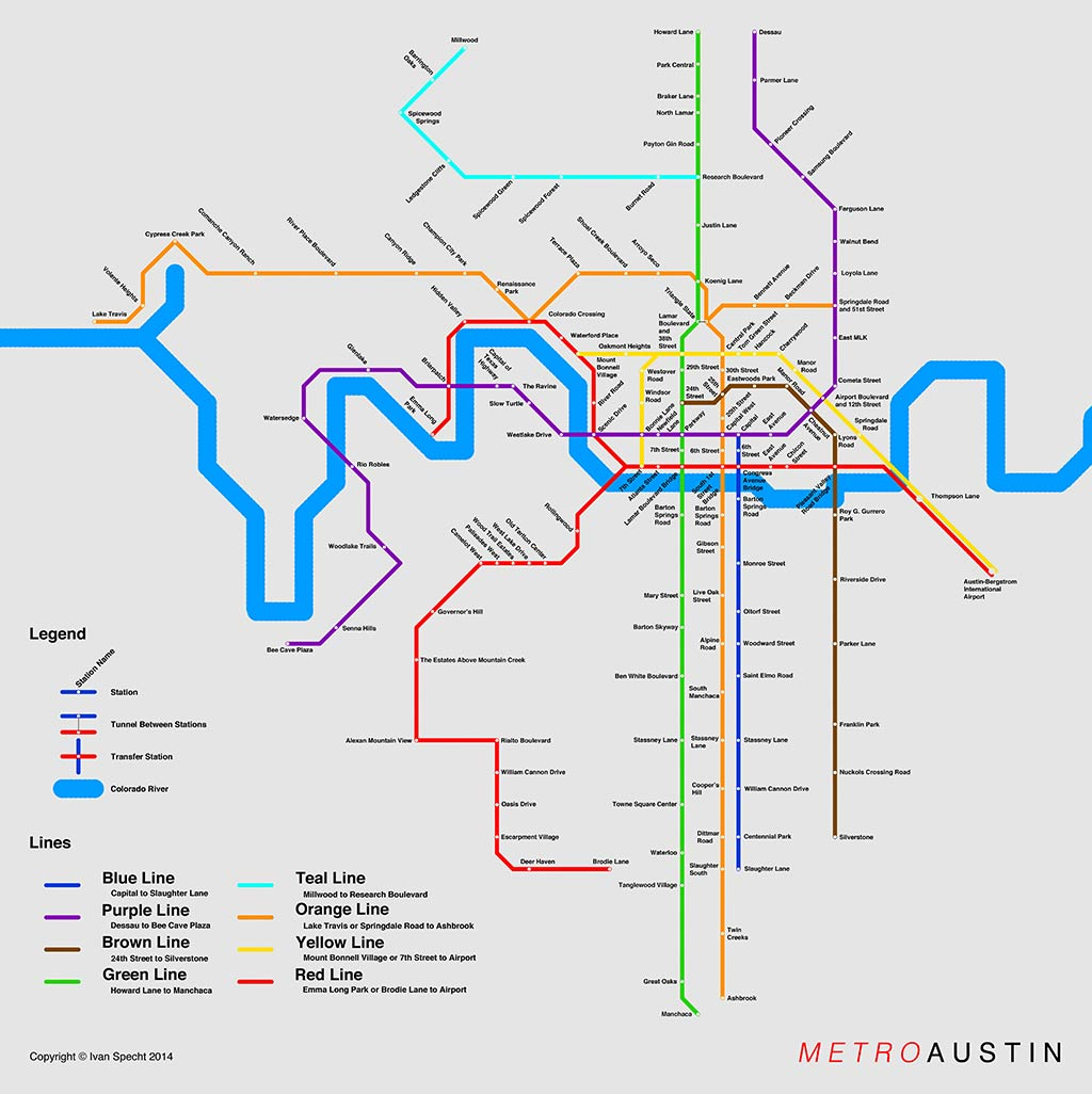 Subway Maps for Cities without Subways