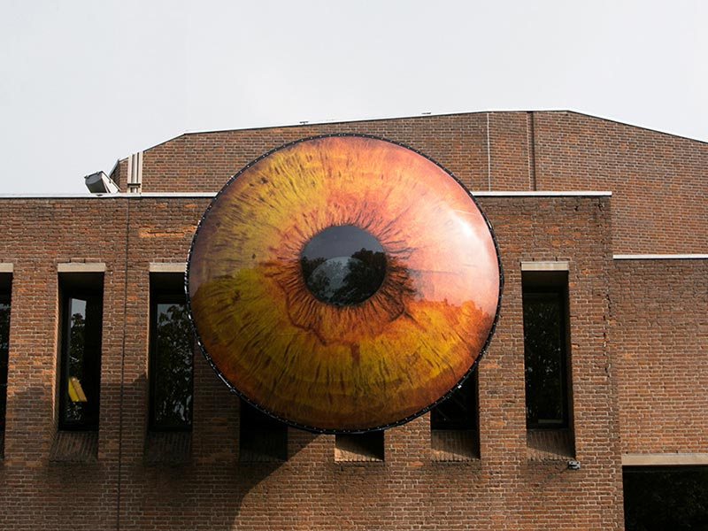 A Dutch Town Installs 5 Giant Eyeballs on Buildings, Because Art