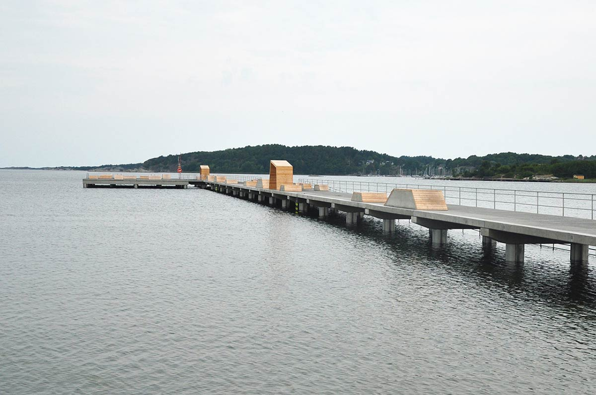 Bathing Pier Outside Gothenburg / Manofactory