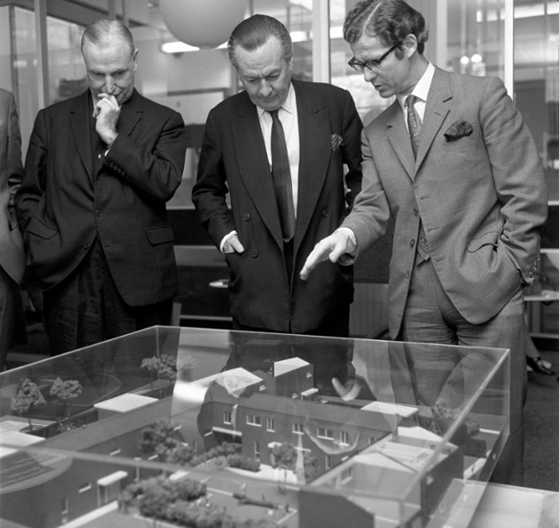 Town planning was a policy priority in earlier decades. Here, housing minister Julian Amery views residential plans for south London in 1971