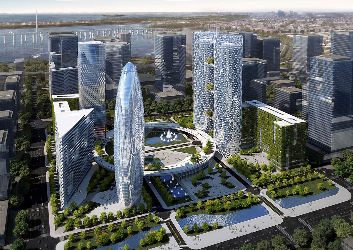 Shenzhen Qianhai Exchange Plaza Andrea Maffei Architects