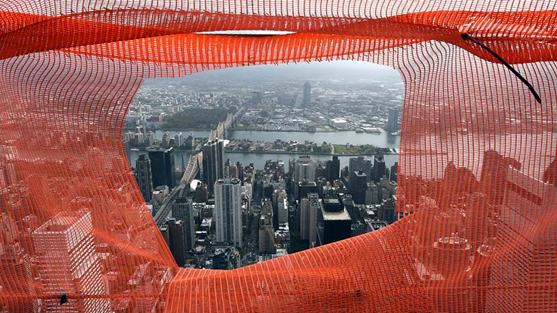 A view of New York City from the 75th floor of 432 Park Avenue