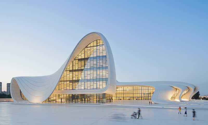 Heydar Aliyev Center, Baku, Azerbaijan, designed by Zaha Hadid and Patrik Schumacher