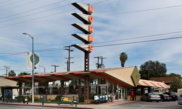Norms diner on La Cienega Boulevard, Los Angeles.