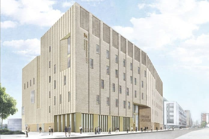 An artist's impression of the proposed new Birmingham Conservatoire in Eastside