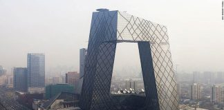 CCTV Tower, Beijing, 2012. Rem Koolhaas / Office for Metropolitan Architecture