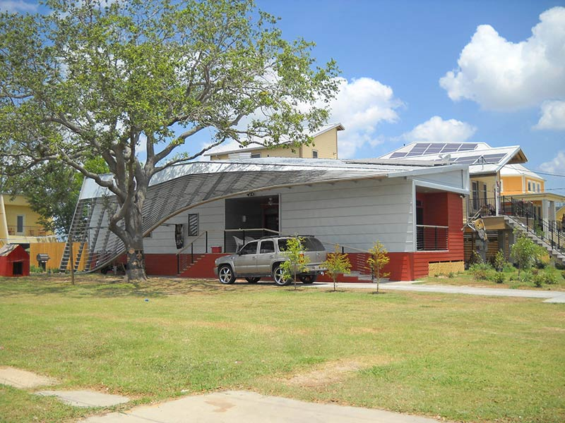 """Make It Right House With """"Damaged"""" Roof in New Orleans' Lower Ninth Ward"""