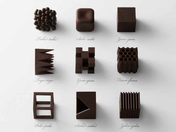 These striking chocolates were created by Japanese design studio Nendo