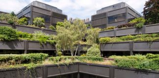 'The hanging gardens of Basingstoke' – aka Gateway House – is among 14 newly listed postwar office building