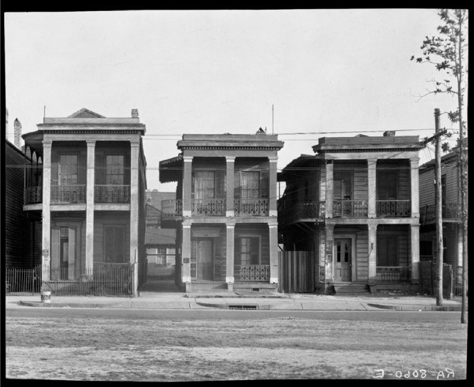 Frame Houses. New Orleans, La., 1936.