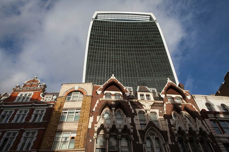 20 Fenchurch Street seen from an adjacent street