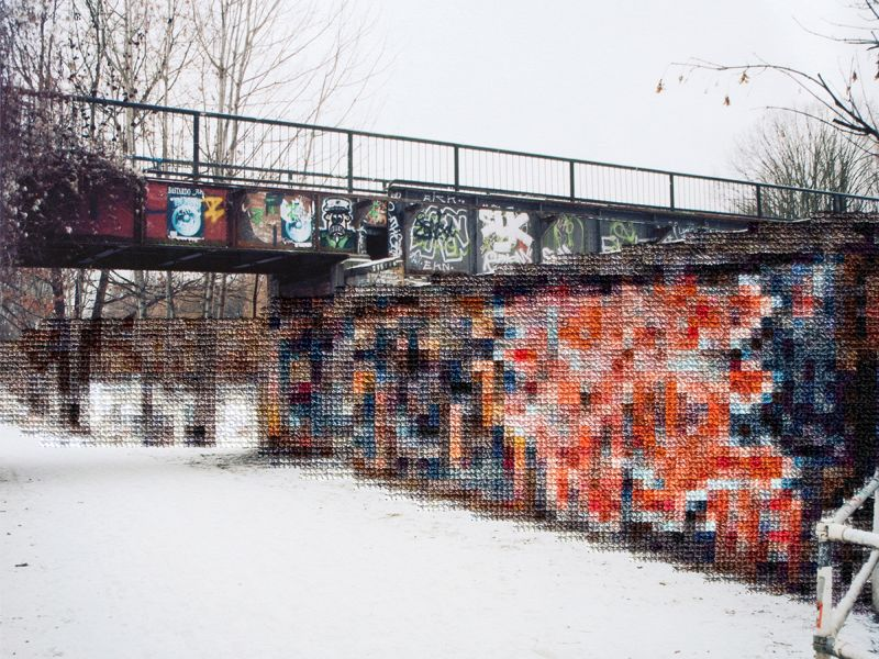 Trace the History of the Berlin Wall through Embroidered Pixels