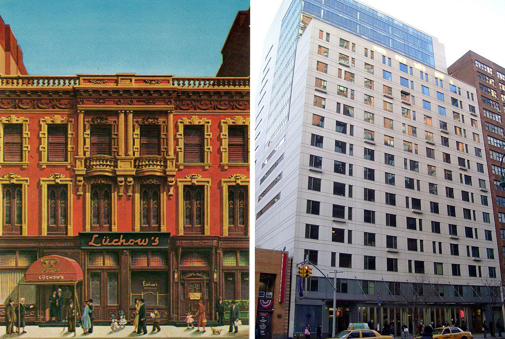 Then and Now: From Luchow's German Restaurant to NYU Dorm