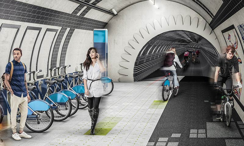 Gensler's proposal to turn disused underground tunnels into arteries for bikes and pedestrians looks like fun. As a sober response to congestion, it's ridiculous