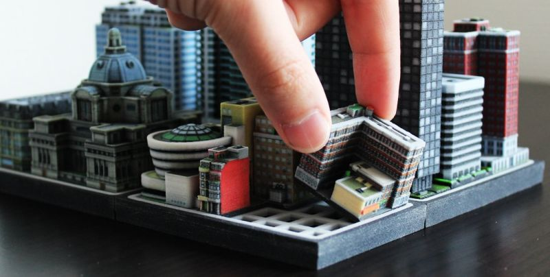 Customizable 3D Miniature City