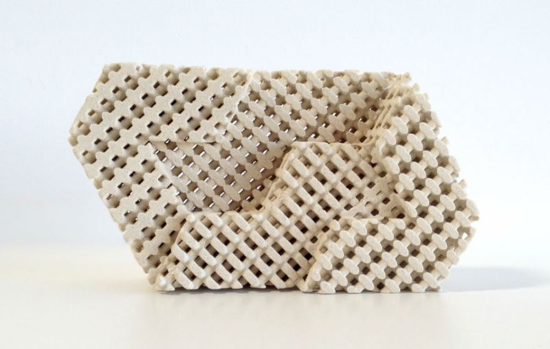 This weird 3-d printed brick can cool your house