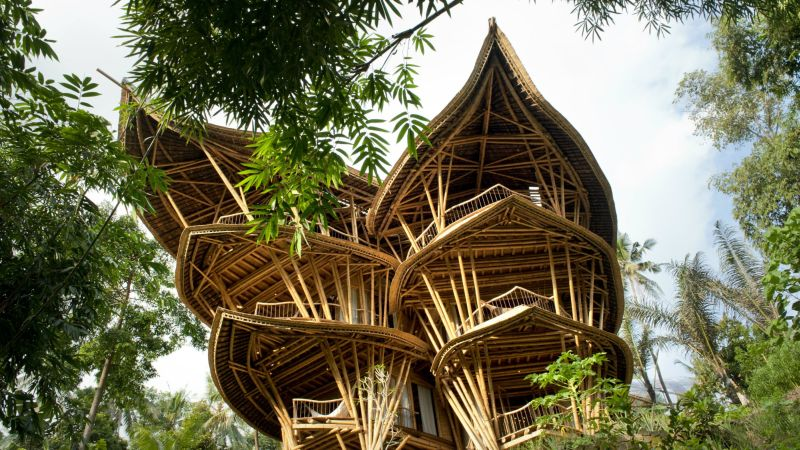The spectacular Bali's bamboo architecture