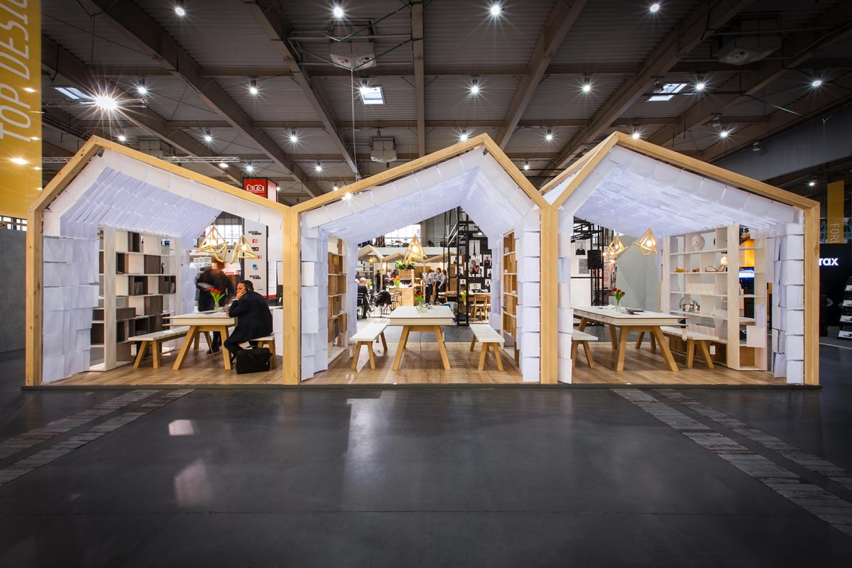 Human Touch Group Pavilion at Arena Design fair / mode:lina architekci