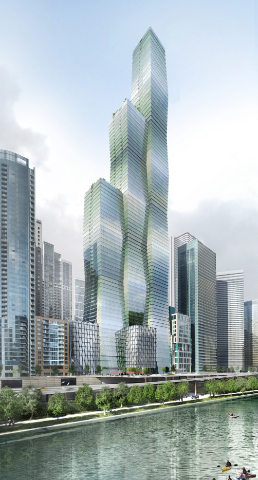 Studio gang's skyscraper could be one of tallest in chicago