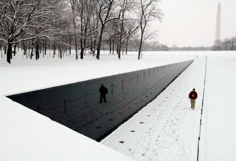Maya Lin's simple and extraordinarily moving Vietnam Veterans Memorial, Washington DC