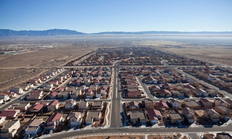 Why does Barclays want to build a city in the middle of the New Mexico desert?