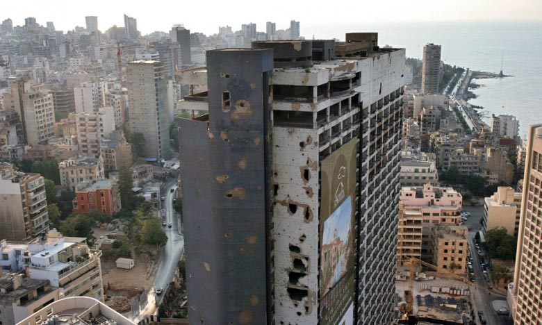 Beirut's bullet-riddled Holiday Inn