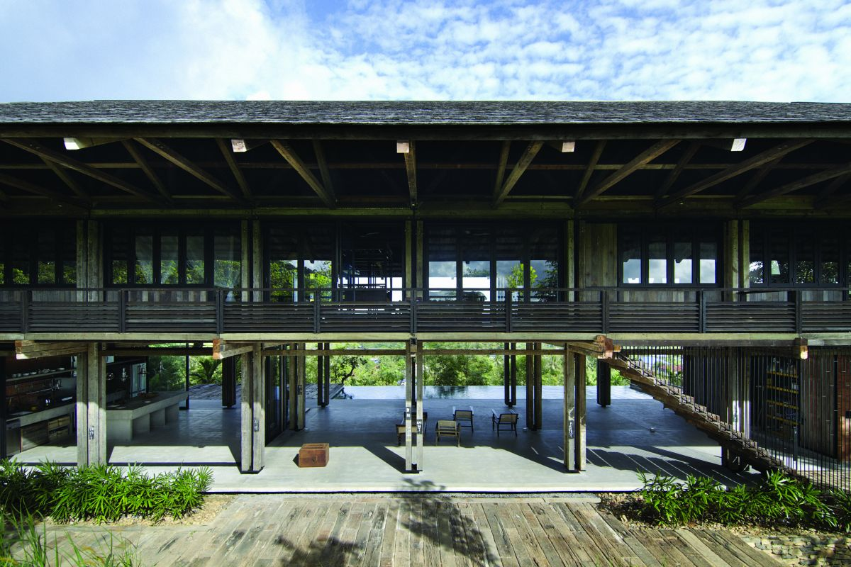 Reclaimed telegraph poles house whbc architects for House design malaysia architecture
