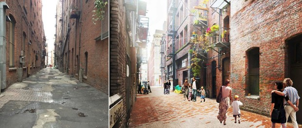 Seattle's Future Alleys Look Like Paradise