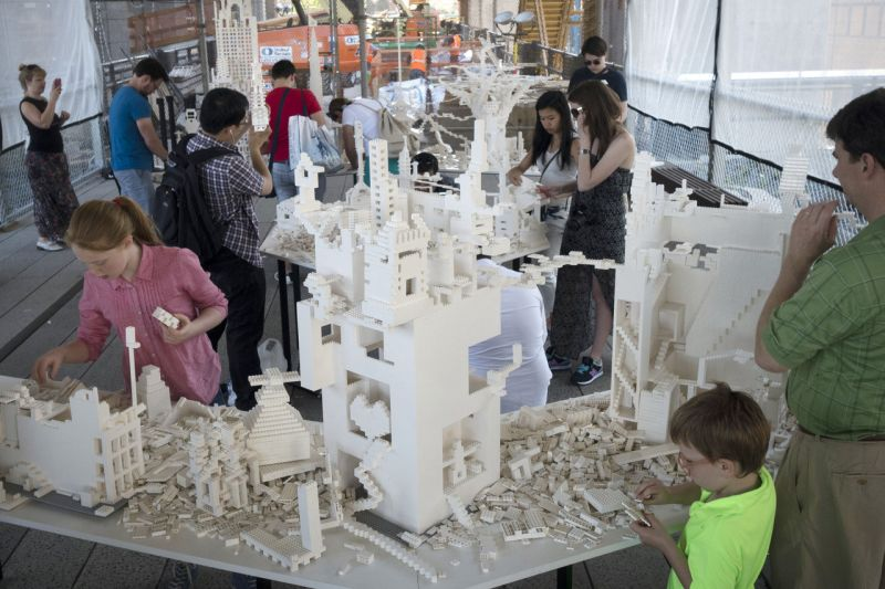 Artist Urges Urban Planning, With Legos
