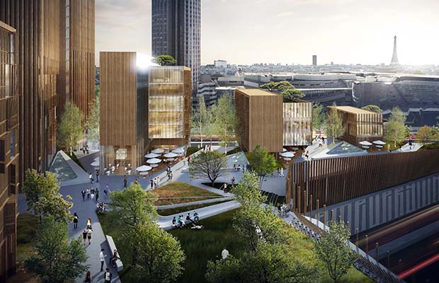 Vancouver firm MGA proposes timber skyscraper for Paris skyline