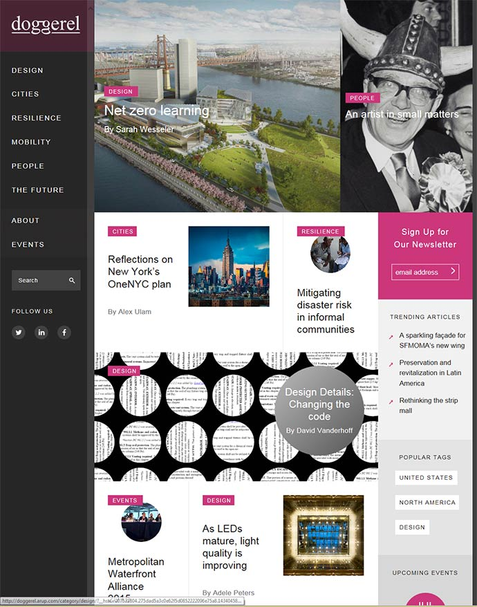 Arup launched Doggerel, an online magazine to showcase innovation in the built environment