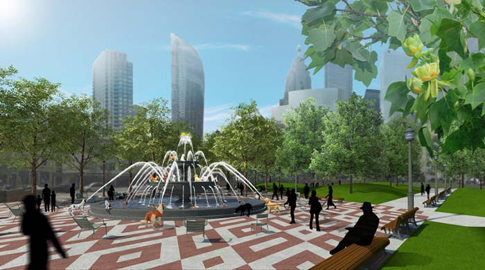 Toronto's New park and fountain will let fun flow