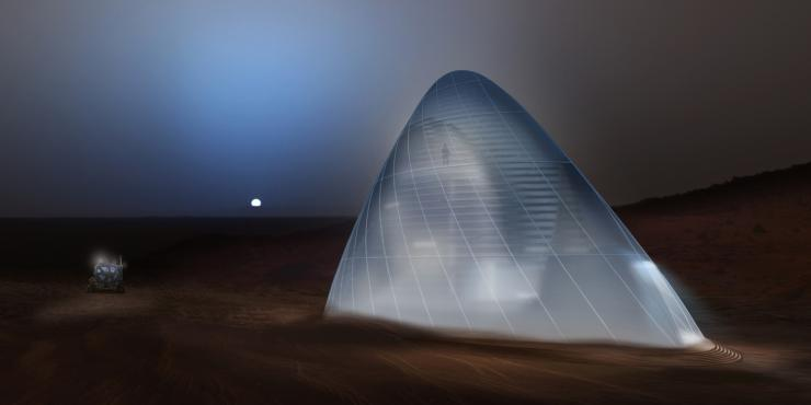 Mars Ice House wins the first prize in NASA's Mars Habitat contest