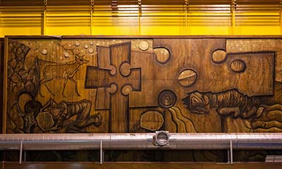 Hidden treasure: the modernist mural buried in a Scottish mountain