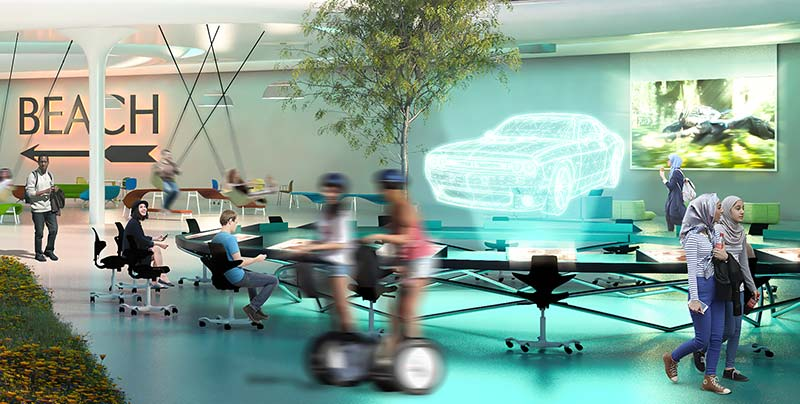 Holograms, haircuts and micro-farming - radical ideas to design future workplace
