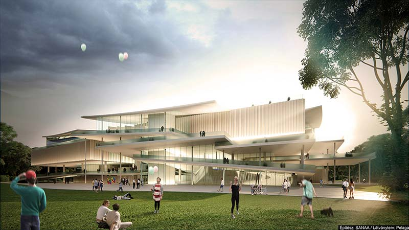 The new national gallery of Hungary to be built based on the plans of the japanese Sanaa