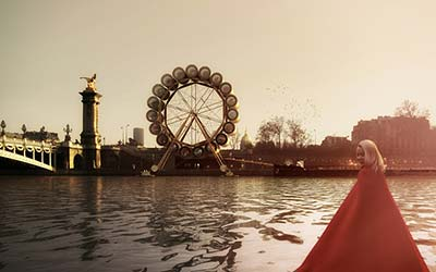French architects plan London Eye-style 'water wheel hotel' on Seine